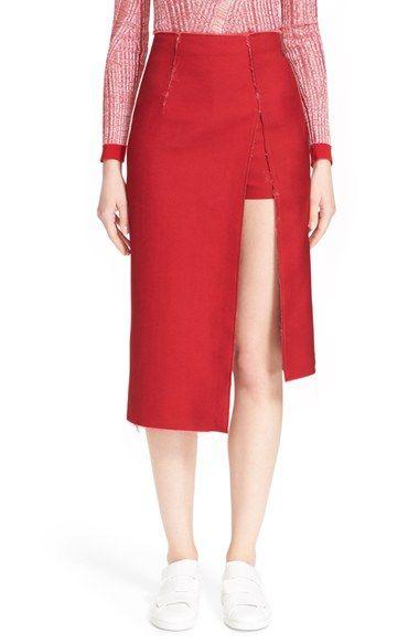 ACNE Studios 'Lynton' Asymmetrical Pencil Skirt available at #Nordstrom