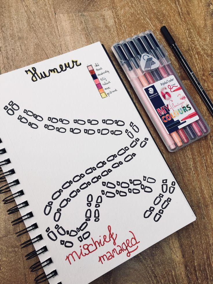 Harry Potter mood tracker ⚡️ Bullet journal mood, Bullet