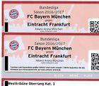 #lastminute  2 Tickets FC Bayern München  Eintracht Frankfurt # Kategorie 1 #deutschland