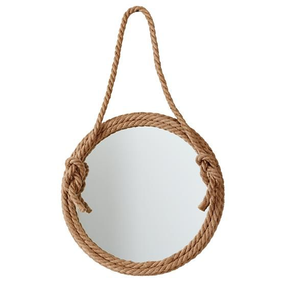 Top Rope Mirror - Its rugged rope frame and large viewing surface make it perfect for any bedroom.