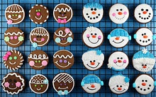 Gingerbread & Snowman Head Cookies