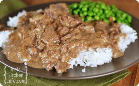 Ultimate Crockpot Beef Stroganoff. My favorite part is that it doesn't have any canned soup in the recipe!
