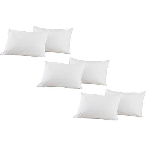 Kit Travesseiros Percal 200 Fios 6 Peças - Casa & Conforto
