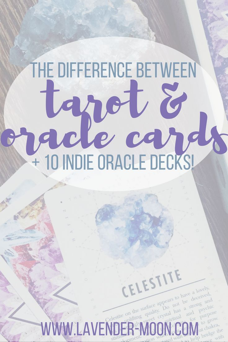 the difference between tarot and oracle cards + my top 10 indie oracle decks!