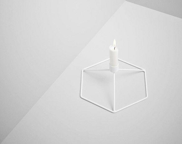 Stolní svícen POV od Menu, bílý   DesignVille