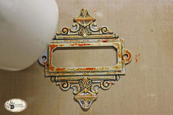 Tuesday Tutorial: Distress Stain on Metal — Tammy Tutterow Designs