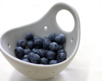 MADE TO ORDER  Small ceramic colander  pottery berry bowl