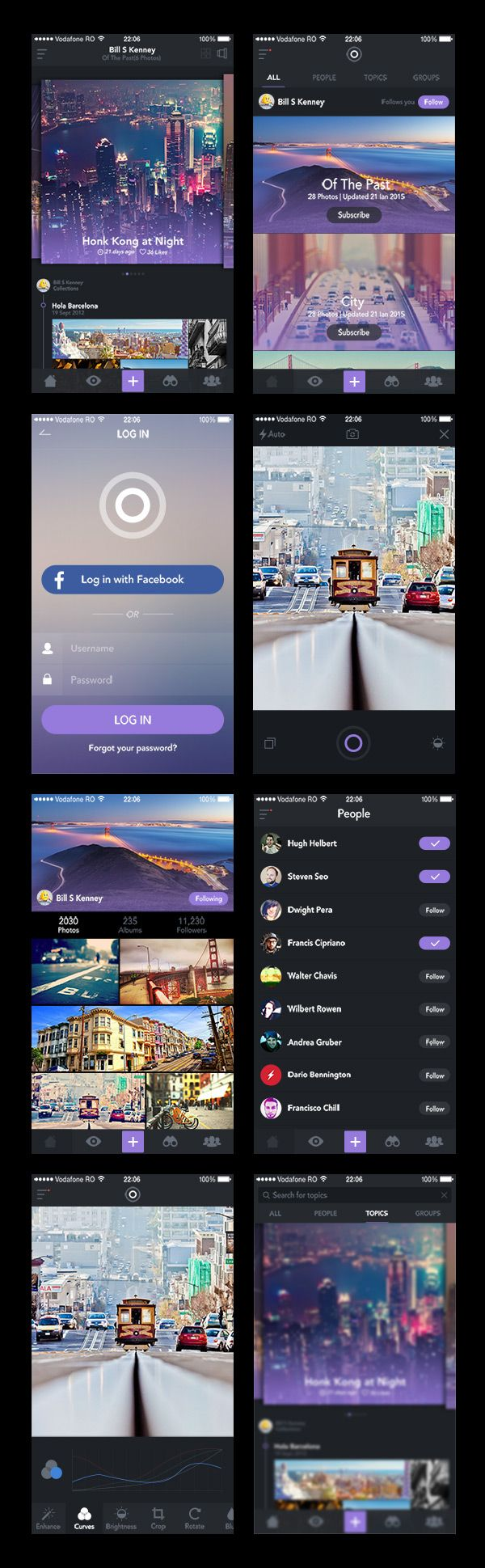 iOS photo application UI