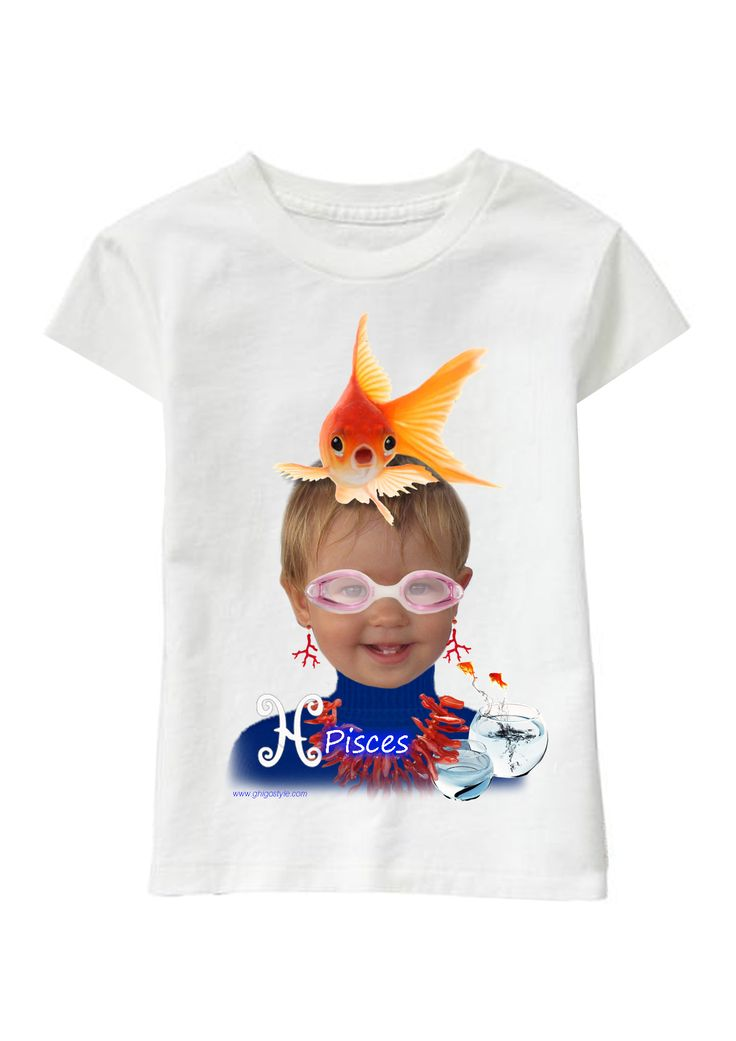 Pisces Girl personalized T-shirt www.ghigostyle.com