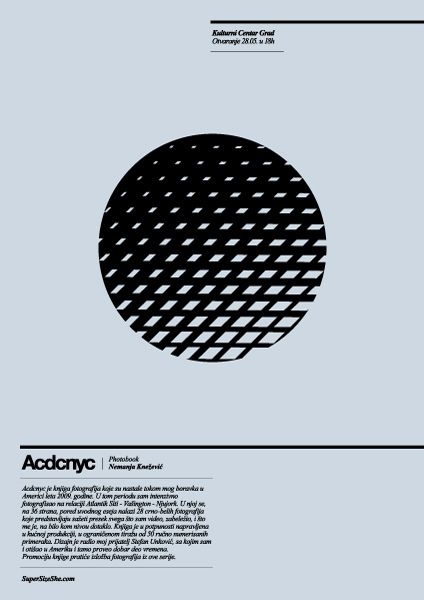 Acdcnyc exhibition poster by FuckNewRave, via Flickr