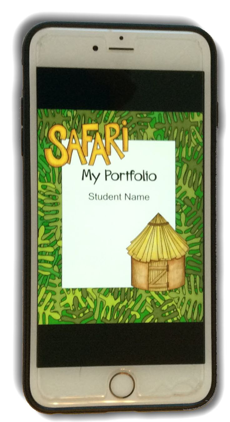 Google-ready student portfolio template that coordinates with Safari or jungle themed classroom.  Parents can view student work on  phones & tablets as well as computers.