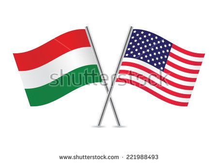 Economy. This picture shows the US flag and the Hungarian flag. Hungary and the US have a lot of similarities and differences. For instance they both have grown into a well known country with people from all different nations and religions that live there. Hungary is losing their population while the USA's population is growing rapidly.