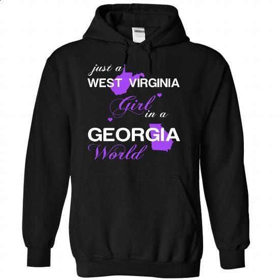 (WVJustTim002) Just A West Virginia Girl In A Georgia World - #girls hoodies…