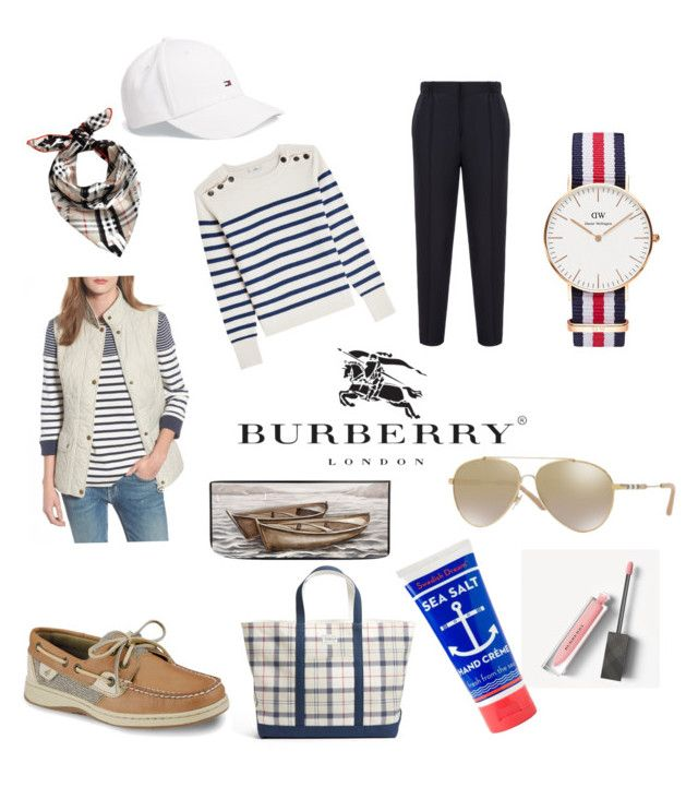"""SEA look"" by kaoutar-rayour on Polyvore featuring Closed, Sperry, Bally, Barbour, Burberry, Daniel Wellington, Jayson Home, sea, sperry and tommyhilfiger"