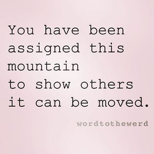 Moving mountains.