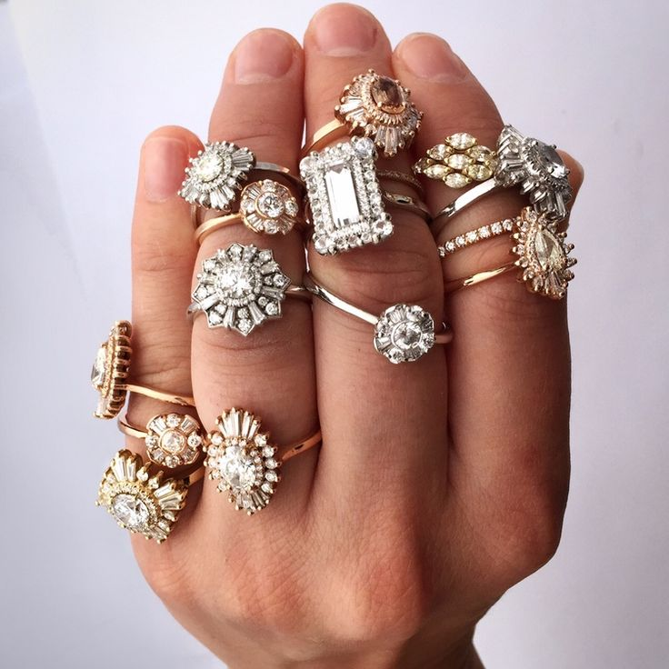 We're so obsessed with Heidi Gibson's unique, vintage-inspired engagement rings! You can find all of these and more on HowHeAsked's ring finder.