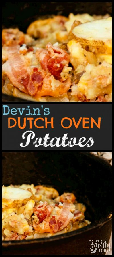 These are by far the best Dutch Oven Potatoes I have ever had!  I especially love them with our homemade ranch.  These potatoes are famous in our family. via @favfamilyrecipz