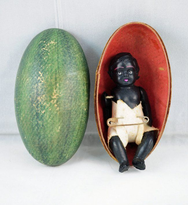 245: 1920`s Celluloid Black Baby Doll in Watermelon : Lot 245