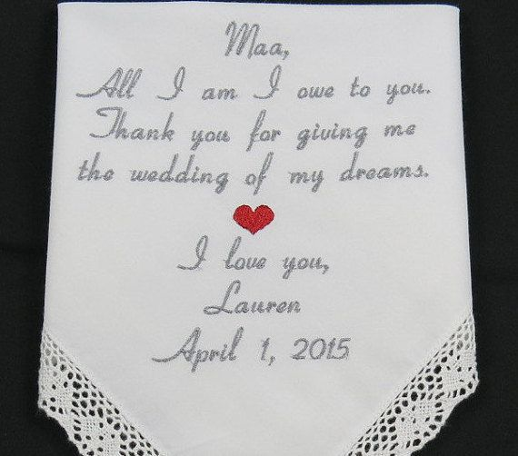 Wedding Handkerchiefs For The Family: 48 Best Images About Embroidered Wedding Handkerchief
