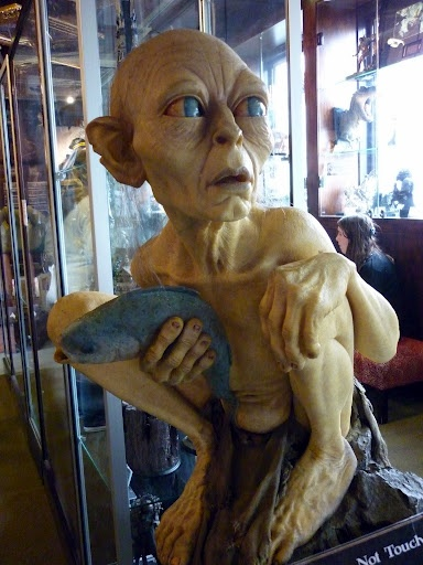 """Gollum """"my precious"""". The creation of Weta Workshops in Miramar, Wellington for Lord of the Rings movie trilogy"""