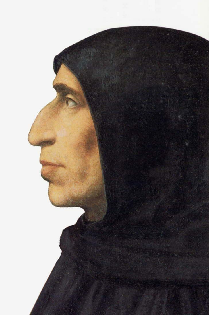 Ritratto di Girolamo Savonarola - Fra' Bartolomeo, 1498