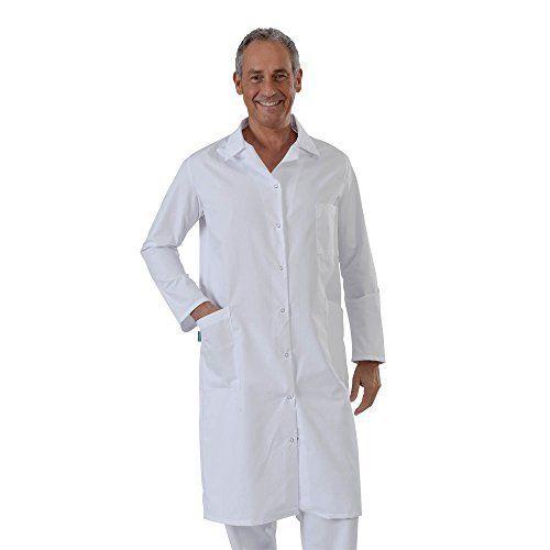 Label blouse Blouse Blanche manches manches longues chimie laboratoire médical Sergé 210 gramme Couleurs Blanc Pressions inoxydables Lavage…