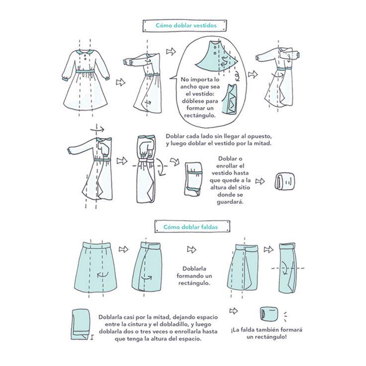 Cómo-doblar-vestidos-y-faldas-Marie Kondo