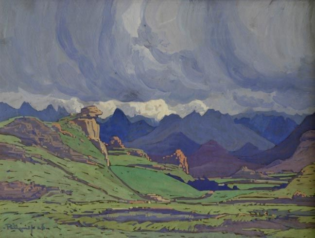 JH Pierneef - Landscape with Clouds, 1926