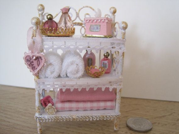 Picture Gallery Website th Scale Dollshouse White Shabby Chic Bathroom by thCouture