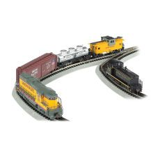 Bachmann Golden Spike N Scale DCC-Equipped Train Set with 2 Locomotives Track
