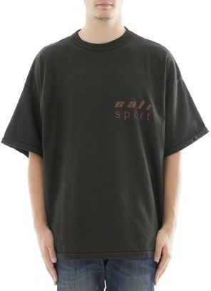 Yeezy Men's Grey/green Cotton T-shirt.