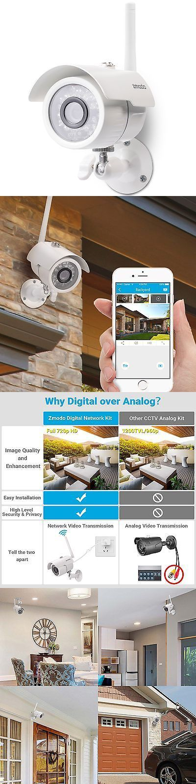 Security Cameras: Zmodo 720P Hd Smart Wireless Surveillance Camera Wifi Outdoor Security Camera -> BUY IT NOW ONLY: $38.6 on eBay!