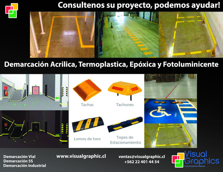 Demarcación Acrilica, Termoplastica, Epóxica y Fotoluminicente.  http://www.visualgraphic.cl/  Visitenos!