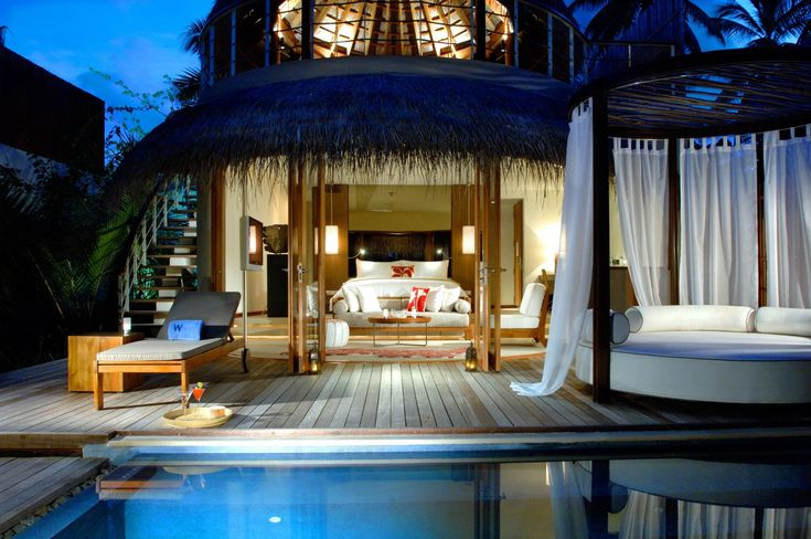 Houses Resorts Maldives Bungalow Bed Bedroom Pools