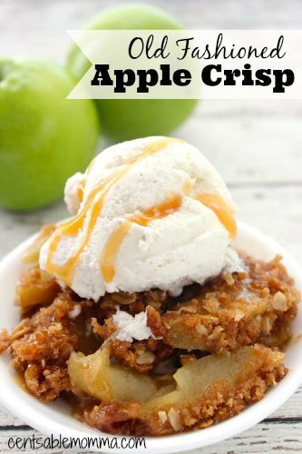 It's apple picking season, which means fresh apples for recipes like this one for Old Fashioned Apple Crisp.