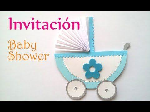 Manualidades: INVITACIONES para BABY SHOWER carrito - cochecito - carreola - DIY Innova Manualidades - YouTube
