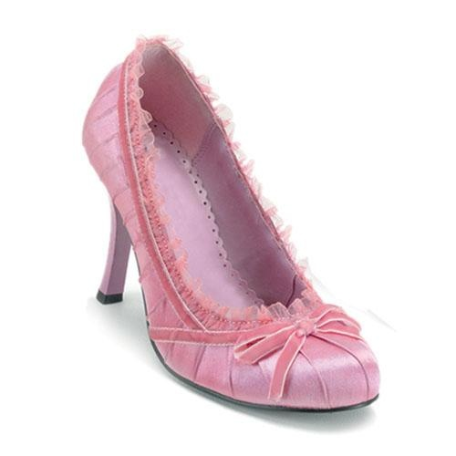 Pink satin pleated pump by Funtasma $29.14  #shoes #fashion #style #heels #cute #sexy