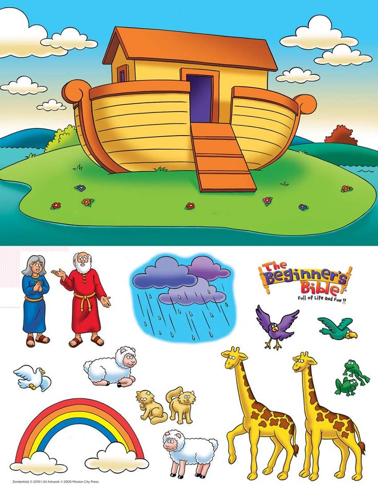 Noach's Ark verhaal figuren om te printen en gebruiken bij het vertellen // Noah's Ark story figures to print
