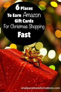 6 places to earn Amazon gift cards for Christmas shopping --fast. Plus no need to fill out time consuming surveys!
