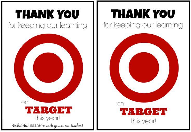 Teacher Appreciation Gift Idea: Target Gift Card Teacher Appreciation Printable - Coupons Are Great