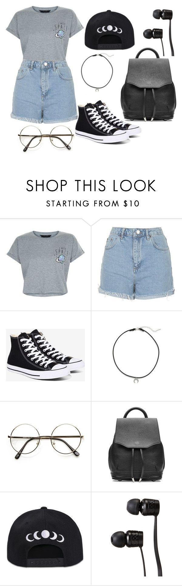 """""""I NEED SPACE"""" by as-pretty-as-the-moon ❤ liked on Polyvore featuring New Look, Topshop, Converse, Dogeared, rag & bone and Vans"""