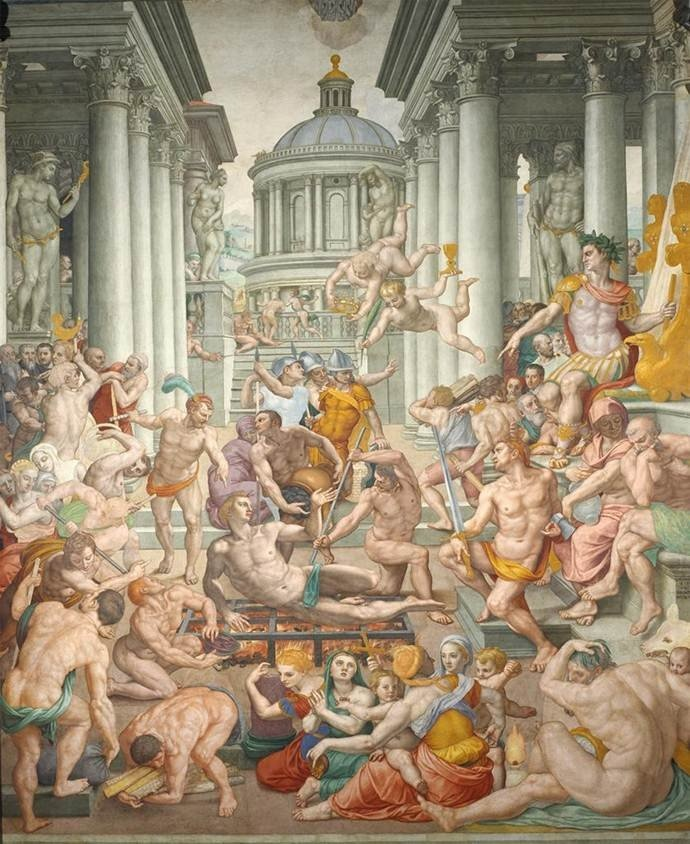Explore this interactive image: Agnolo Bronzino, The Martyrdom of S Lawrence by Sharon
