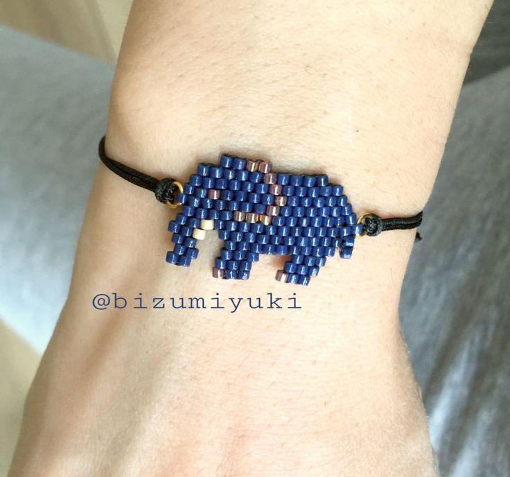 Filli miyuki bileklik (lacivert) Uğur getirdiğine inanılan filler şimdi bileklerde.. İstediğiniz renkte ve kolye olarak da.... 384638