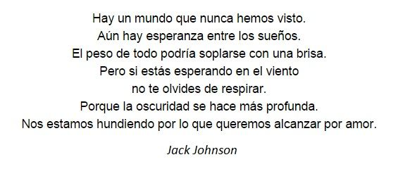 verso All at Once - Jack Johnson