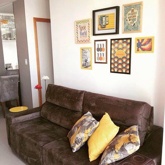 Sala De Tv Sofa Marrom ~  de sofá, Quartos familiares marrom e Decoração de sala marrom