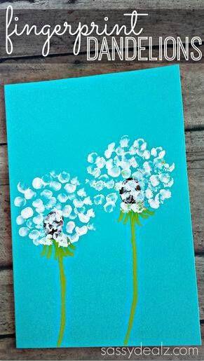 thumbprint dandelion