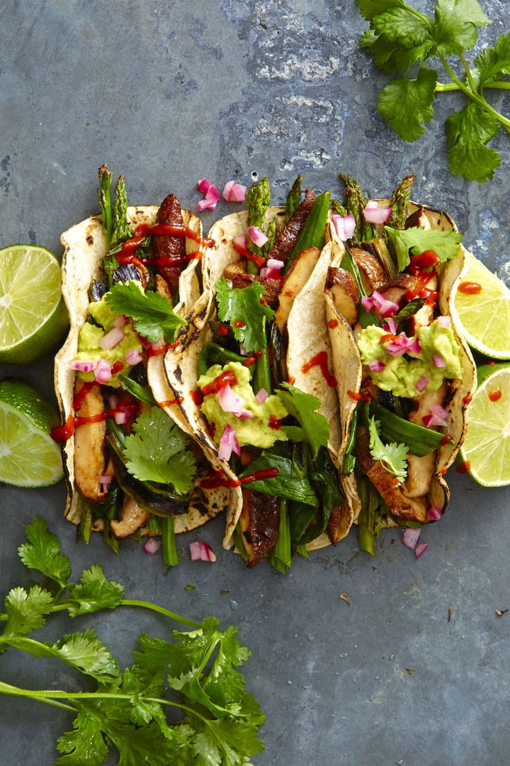 Grilled Asparagus and Shiitake Tacos - GoodHousekeeping.com