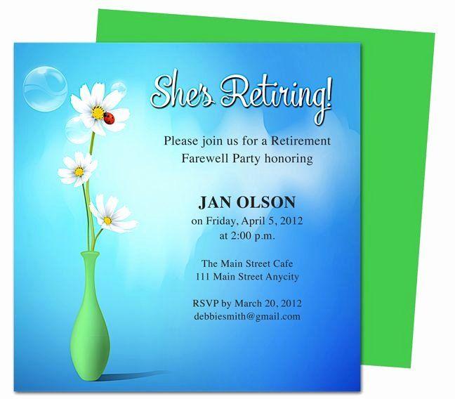 Unique Retirement Party Invitation Template Word Party Invite