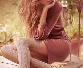 Long knit socks