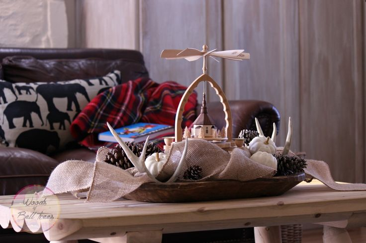 When fall and Christmas meet it's time to do a little transitional decorating.